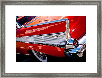 1957 Chevy Bel Air Custom Hot Rod Framed Print by David Patterson