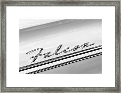 1963 Ford Falcon Futura Convertible   Emblem Framed Print by Jill Reger
