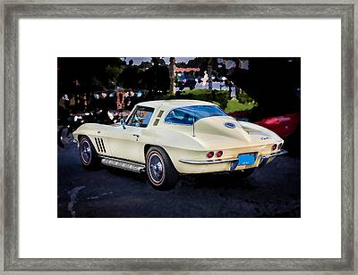 1965 Chevrolet Corvette Sting Ray Coupe  Framed Print by Rich Franco
