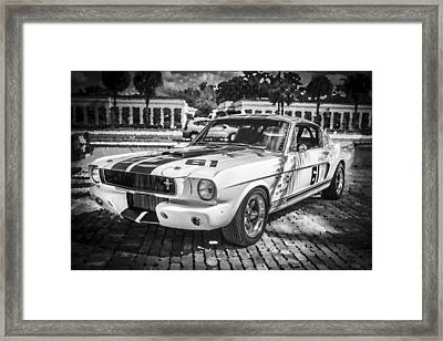 1965 Ford Shelby Mustang Bw Framed Print by Rich Franco