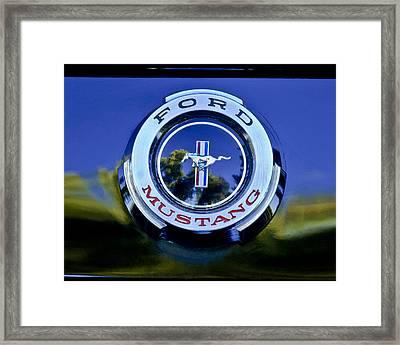 1965 Shelby Prototype Ford Mustang Emblem Framed Print by Jill Reger