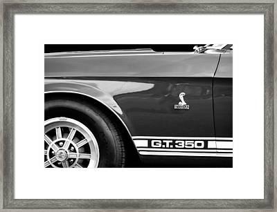 1968 Shelby Gt350 Side Emblem Framed Print by Jill Reger