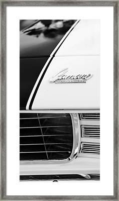 1969 Chevrolet Camaro Rs-ss Indy Pace Car Replica Hood Emblem Framed Print by Jill Reger