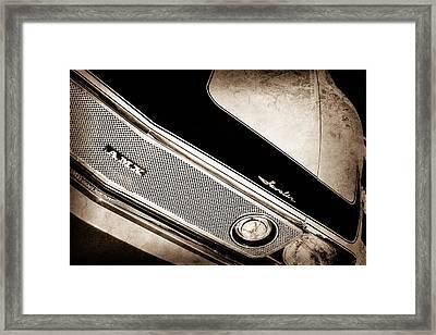 1971 Amc Javelin Amx Grille Emblem Framed Print by Jill Reger