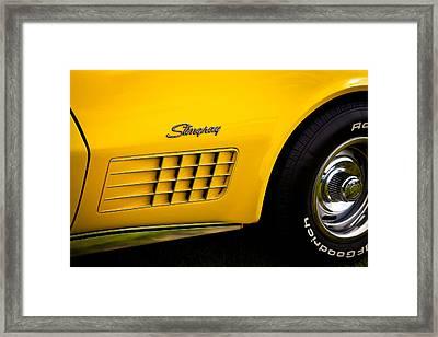 1971 Chevrolet Corvette Stingray Framed Print by David Patterson