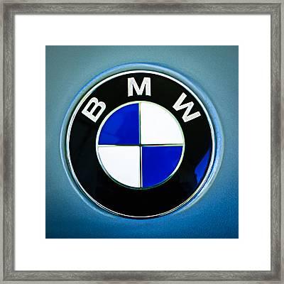 1972 Bmw 2000 Tii Touring Emblem Framed Print by Jill Reger