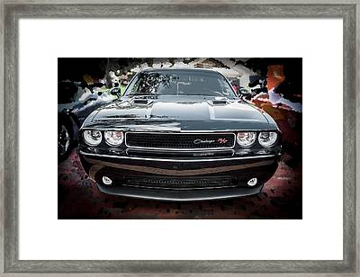 2013 Dodge Challenger  Framed Print by Rich Franco