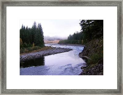 A Mountain Stream Framed Print by J D Owen