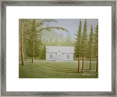 A North Carolina Church Framed Print by Stacy C Bottoms