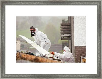 A Specialist Asbestos Removal Company Framed Print by Ashley Cooper