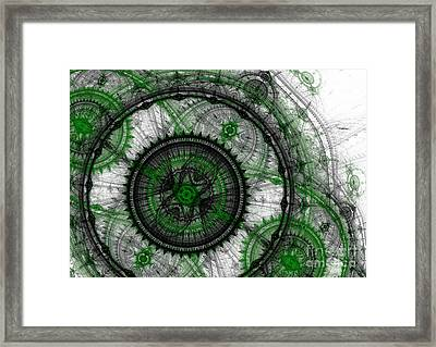 Abstract Mechanical Fractal Framed Print by Martin Capek