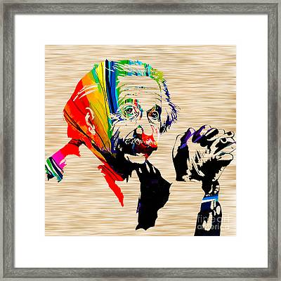Albert Einstein Framed Print by Marvin Blaine