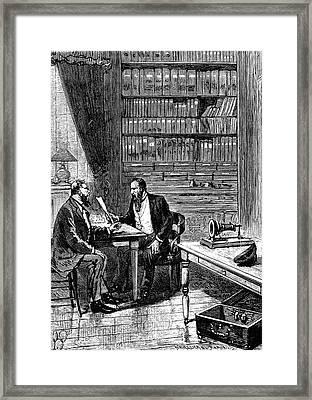 Alexander Graham Bell Framed Print by Universal History Archive/uig