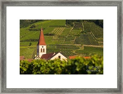 Alsace Church Framed Print by Brian Jannsen