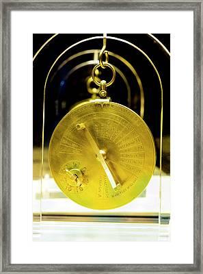 Antikythera Mechanism Model Framed Print by Louise Murray