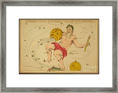 Aquarius Constellation Zodiac Sign Framed Print by Science Source