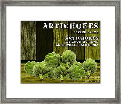 Artichokes Farm Framed Print by Marvin Blaine