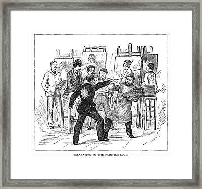 Atelier, 1884 Framed Print by Granger