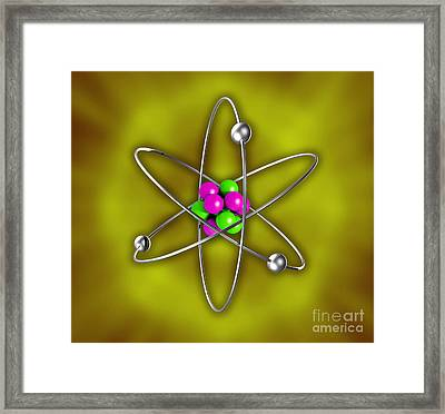 Atomic Structure Framed Print by Scott Camazine
