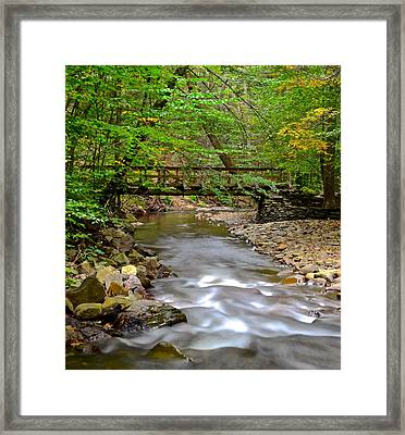 Babbling Brook Framed Print by Frozen in Time Fine Art Photography