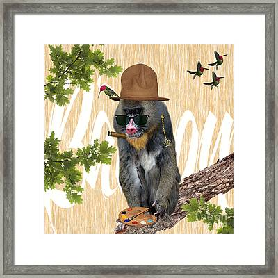 Baboon Collection Framed Print by Marvin Blaine