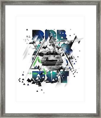 Back To The Delorean Framed Print by Pop Culture Prophet