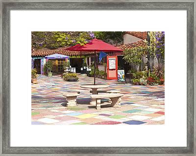 Balboa Park Spanish Village San Diego California. Framed Print by Gino Rigucci