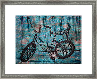 Banana Seat Framed Print by William Cauthern