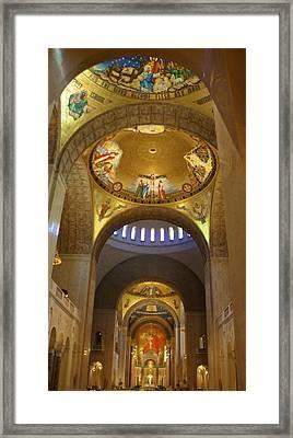 Basilica Of The National Shrine  Framed Print by Art Spectrum