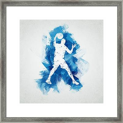 Basketball Player Framed Print by Aged Pixel