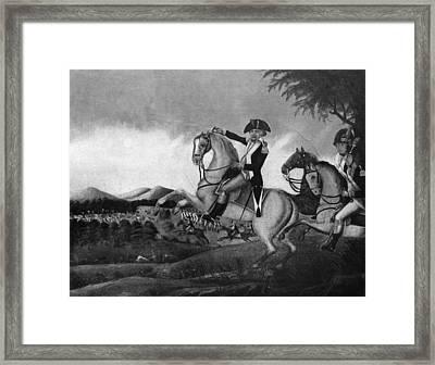 Battle Of Fallen Timbers Framed Print by Granger