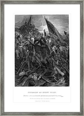 Battle Of Stony Point, 1779 Framed Print by Granger