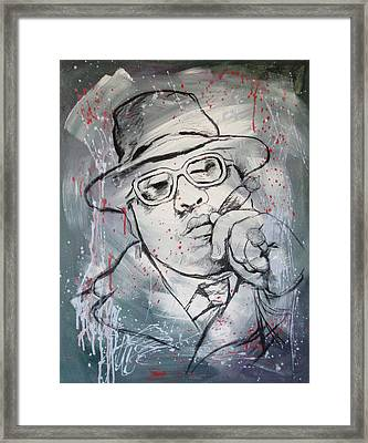 Biggie Smalls Art Painting Poster Framed Print by Kim Wang