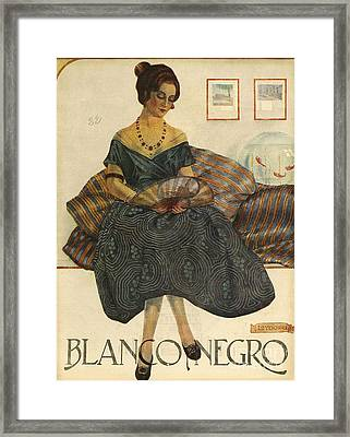 Blanco Y Negro  1923  1920s Spain Cc Framed Print by The Advertising Archives