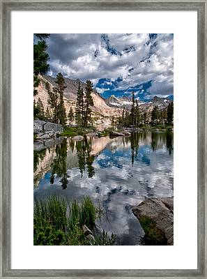 Blue Lake Framed Print by Cat Connor