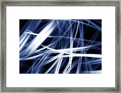 Blue Lines  Framed Print by Les Cunliffe