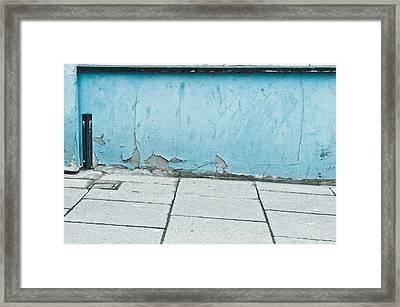 Blue Wall Framed Print by Tom Gowanlock