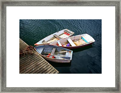 3 Boats Framed Print by Emmanuel Panagiotakis