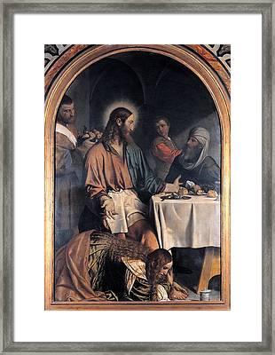 Bonvicino Alessandro Known As Moretto Framed Print by Everett