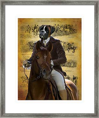Boxer Art Canvas Print Framed Print by Sandra Sij