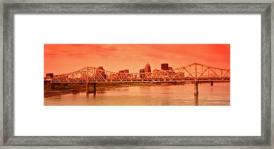 Bridge Across A River, John F. Kennedy Framed Print by Panoramic Images