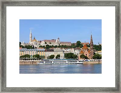 Budapest Cityscape Framed Print by Artur Bogacki