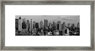 Buildings In A City, Manhattan, New Framed Print by Panoramic Images