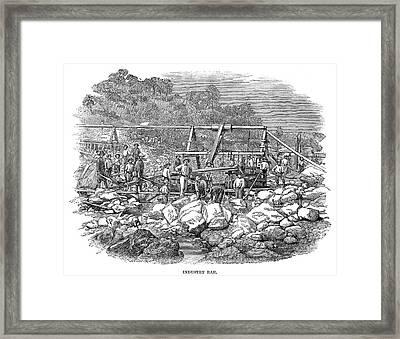 California Gold Miners Framed Print by Granger