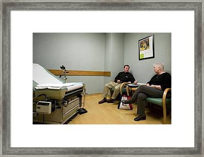 Cancer Research Framed Print by Jim West