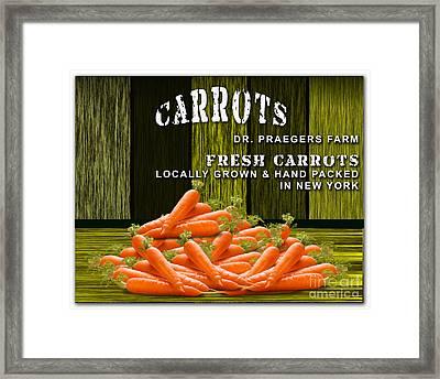 Carrot Farm Framed Print by Marvin Blaine