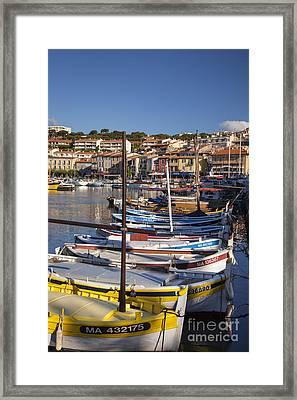 Cassis Boats Framed Print by Brian Jannsen