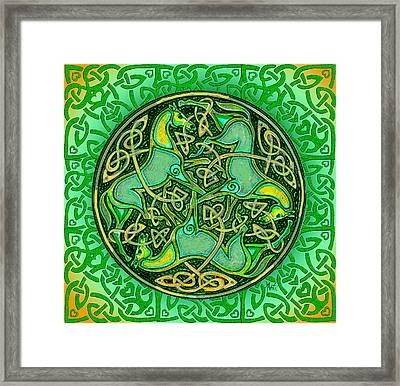 3 Celtic Irish Horses Framed Print by Michele Avanti