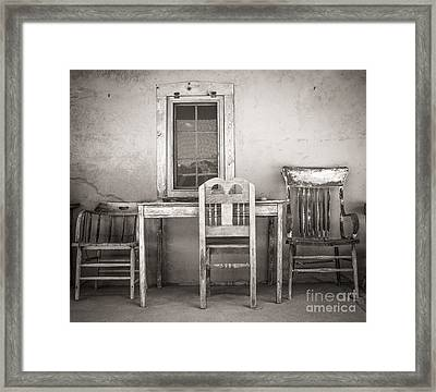 3 Chairs Framed Print by Sherry Davis
