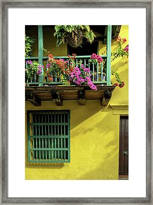 Charming Spanish Colonial Architecture Framed Print by Jerry Ginsberg